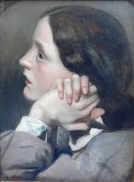 Content in a Cottage: Lost Portrait by John Everett Millais of Effie Gray  discovered in Dusty Attic . . .