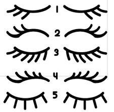 Eyelash Unicorn Lashes Sleepy Eye Lashes Vinyl Decal Stickers Set 30 Pairs 9 75 Picclick Uk