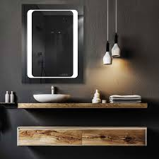 led makeup mirror with lights lighted