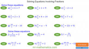 revising solving equations with