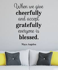 Wall Quotes By Belvedere Designs Give Cheerfully Accept Gratefully Wall Quotes Wall Decal Best Price And Reviews Zulily