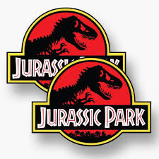 2x Jurassic Park Logo Vinyl Sticker Decal Car Original Movie T Rex Raptor Ebay