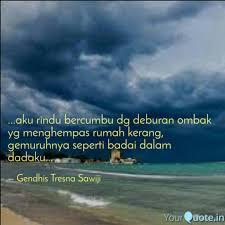 aku rindu bercumbu dg quotes writings by gendhis tresna
