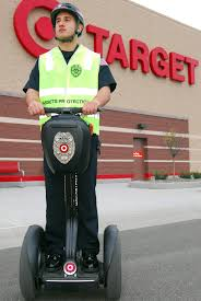 target security officer riding a segway