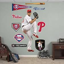 Amazon Com Fathead Mlb Philadelphia Phillies Cole Hamels Sports Fan Wall Decor Stickers Sports Outdoors