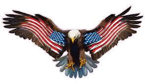 Bald Eagle Worn American Flag Decal Nostalgia Decals Patriotic Vinyl Graphics Nostalgia Decals Online