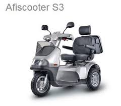 Afiscooter S 3-Wheel with Dual seat switched out for single orthopaedic seat