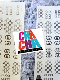 Gucci Gold Decal Sheet Cha Cha Covers