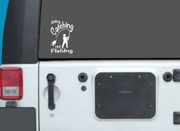 Fishing Car Decal Fisherman Decal Sticker Waterproof Etsy In 2020 Fishing Decals Waterproof Stickers Car Decals