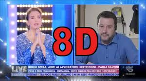 Barbara D'Urso and Salvini: 8D to Pray and Relax (10 minutes ...