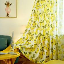 2020 Lemon Darkening Curtains For Kids Bedroom Lovely Window Door Decor Polyester Hooks Cortinas Living Room Kitchen Cafe Valances Cheap Curtain From Jarlhome 11 03 Dhgate Com