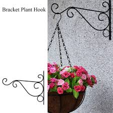 Garden Patio Baskets Pots Window Boxes 4 X Hanging Basket Brackets For Concrete Fence Post Easyfill Brackets Post Uk H Mtmstudioclub Com