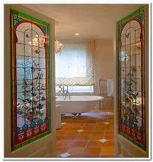 victorian stained glass internal door