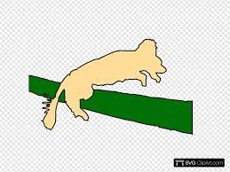 Dog Jumping Over Fence Svg Vector Dog Jumping Over Fence Clip Art Svg Clipart