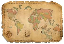 free antique world map vector free file