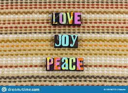 love joy peace hope charity stock image image of print