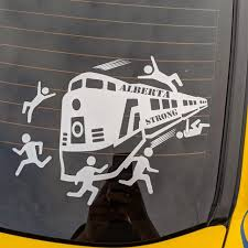 Sticker Shock Decals Of Train Driving Through Protesters Is Just A Joke Alberta Man Says The Star