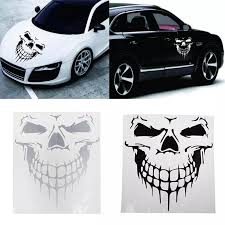 Big Size Punisher Skull Head Car Sticker Engine Hood Door Window Truck Car Styling Reflective Decals For Car Stickers Car Stickers Aliexpress
