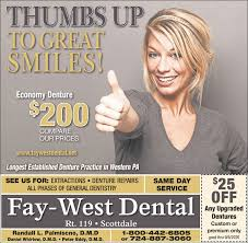FRIDAY, AUGUST 14, 2020 Ad - Fay-West Dental - Observer-Reporter
