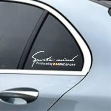 2 Pcs Silver White Vinyl Sports Mind Car Sticker Auto Window Decal For Mercedes Ebay