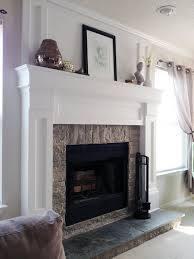 diy fireplace mantel redo diy