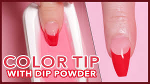 color french tip using dip powder