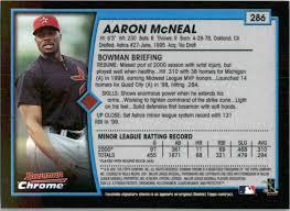2001 Bowman Chrome Aaron McNeal #286 on Kronozio