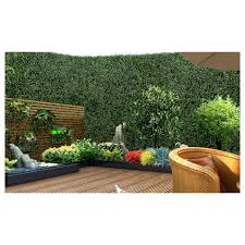 1x Artificial Boxwood Hedge Fake Vertical Garden Green Wall Mat Fence Artificial Grass