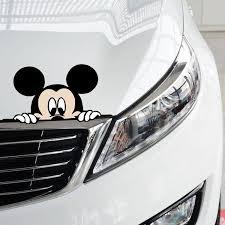 Black Ear Micky Mouse Head Light Vinyl Sticker Decal Bulk Windshield 2 Dorisue