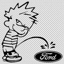 Calvin Piss Pee On Ford Funny Vinyl Decal Sticker Ebay