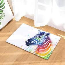 Creative Color Horse Zebra Unicorn Design Floor Mats For Children Kids Home Decor