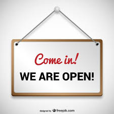 Wij zijn open teken | Gratis Vector