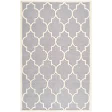 silver ivory 5 ft x 8 ft area rug