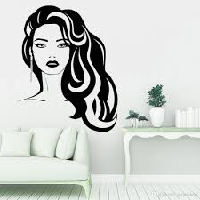 Hair Stylist Wall Stickers Beauty Hairdressing Salon Vinyl Wall Decal For Bedroom Beautiful Woman Wall Decals For Girl Room Sticker Decals For Walls Sticker Decor From Joystickers 11 75 Dhgate Com
