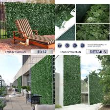Wall Outdoor Topiary Panels Artificial Ivy Leaf Hedge Mat Fence Fake Plant Grass Artificial Plants Outdoor Artificial Plants Outdoor Topiary