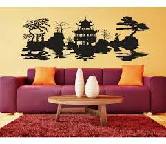 Asian Harmony Exotic Tribal Wall Decal Sticker Mural Vinyl Etsy