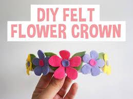 diy felt flower crown craft