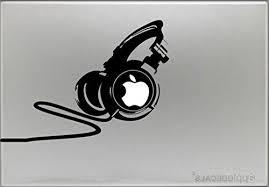 Dj Professional Headphones Sticker Decal Macbook Air