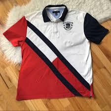 vintage color block rugby shirt