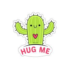 Cactus Hug Me Sticker Green Vsco Laptop Vinyl Cute Waterproof Tumbler Starcove Fashion