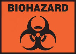 Safety Label Biohazard 3 1 2 X 5 Adhesive Vinyl 5 Pack Cp Lab Safety