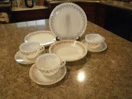 termocrisa dinnerware 12 pcs milk glass