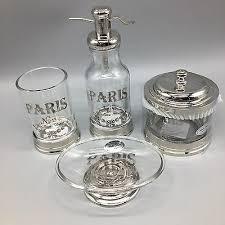 bath accessory set paris soap dispenser