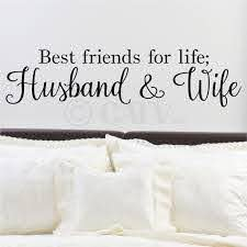 Best Friends For Life Husband And Wife Vinyl Lettering Wall Decal Sticker 6 H X 24 5 L Black Walmart Com Walmart Com