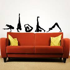 Popular Home Claptrap Decor Difficult Yoga Poses Wall Decals Vinyl Stickers Yoga Studio Fitness Derative Adhesives Poster S 116 Yoga Poses Vinyl Stickersposters Posters Aliexpress