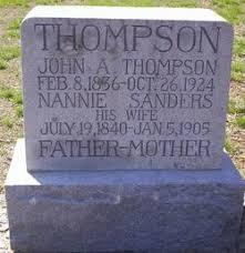 Nannie Sanders Thompson (1840-1905) - Find A Grave Memorial
