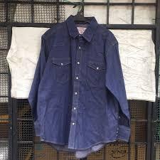 wrangler rugged wear denim shirt men s