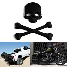 Xotic Tech Cross Bones Skull Skeleton Matte Black Metal 3d Emblem Badge Sticker Decal For Car Suv Truck Off Road Motorcycle Boat Cruise Walmart Com Walmart Com