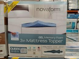 inch gel memory foam mattress topper