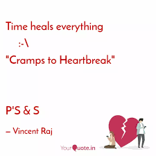 time heals everything quotes writings by vincent raj